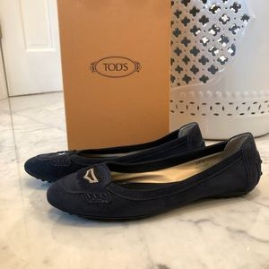 TOD'S women's driving shoes size 37.5